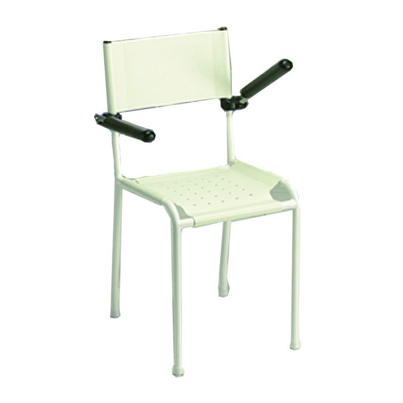 chaise de douche avec accoudoirs relevables invacare revato. Black Bedroom Furniture Sets. Home Design Ideas