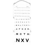 Echelle optométrique murale