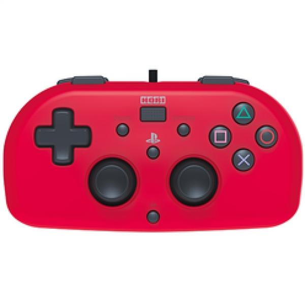 Manette Mini Filaire Rouge PS4