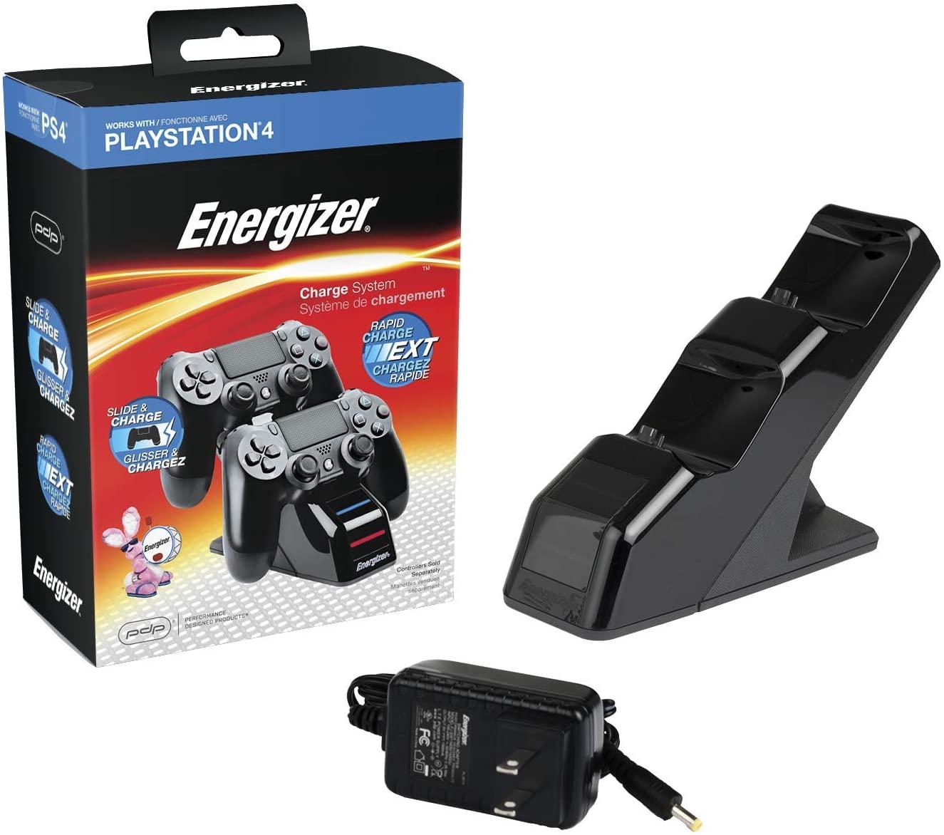 Station de charge 2 manettes PS4 Energizer