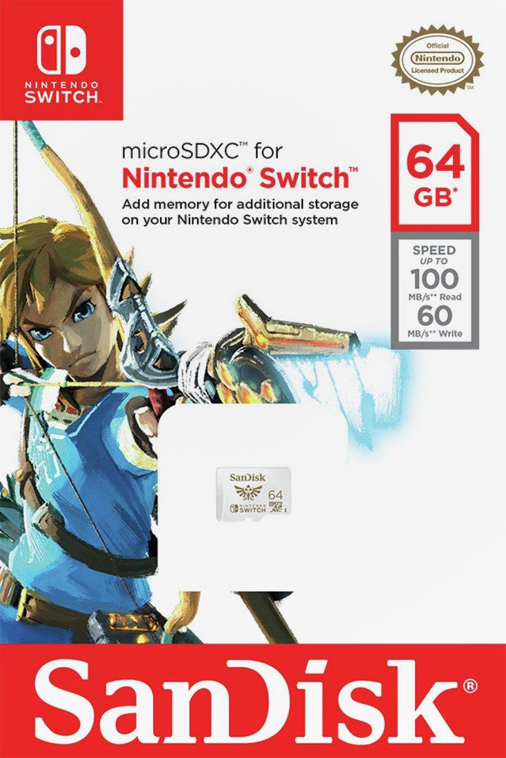 Carte Mémoire microSDXC UHS-I SanDisk 64 Go Nintendo Switch