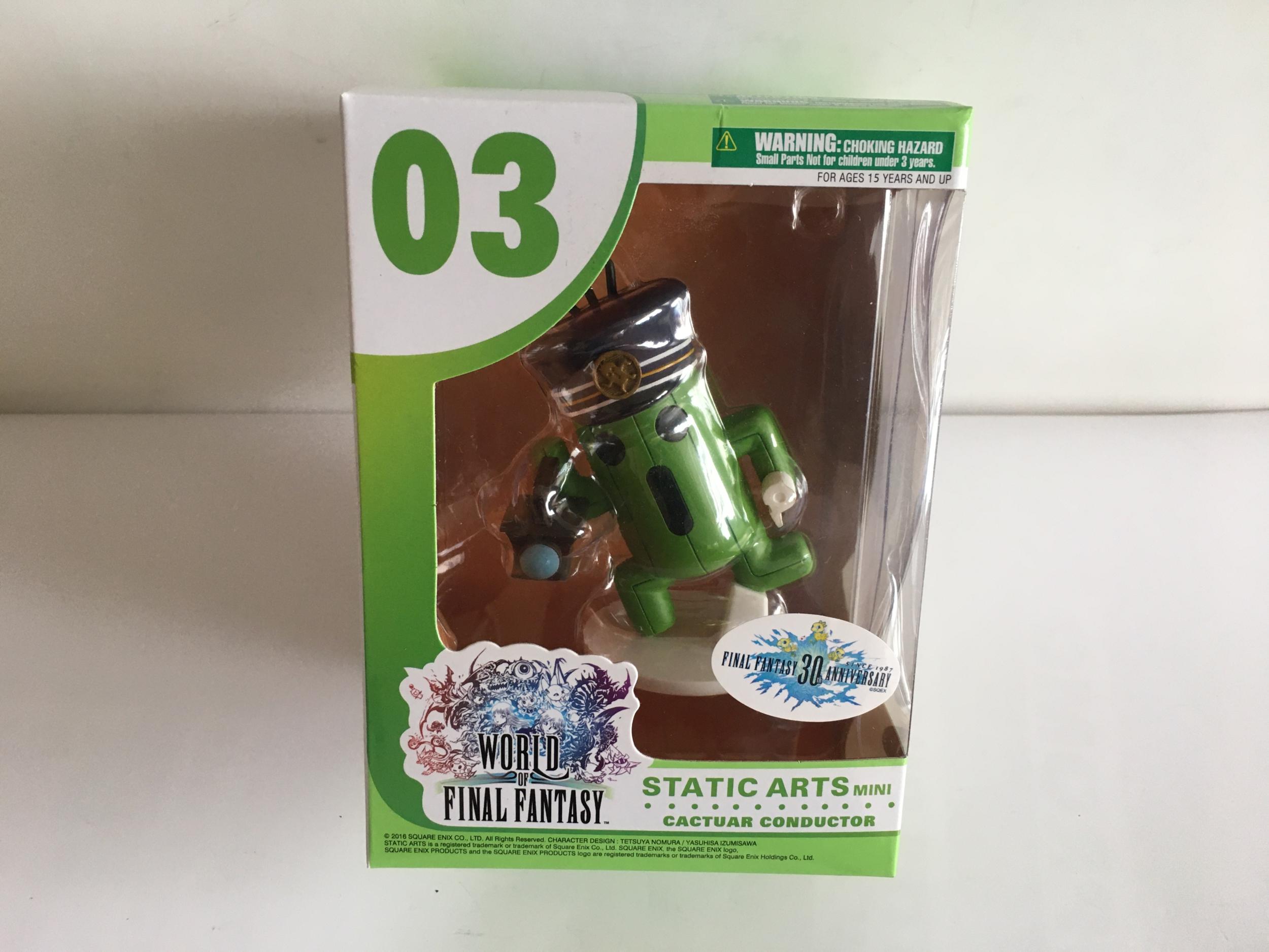 WORLD OF FINAL FANTASY STATIC ARTS mini Cactuar Conductor Square Enix