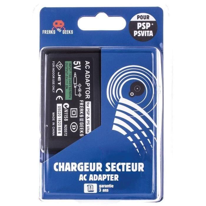 Chargeur Secteur Noir PS Vita - PSP