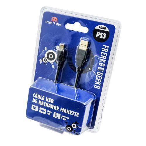Câble de Recharge pour Manette PS3 - PS4