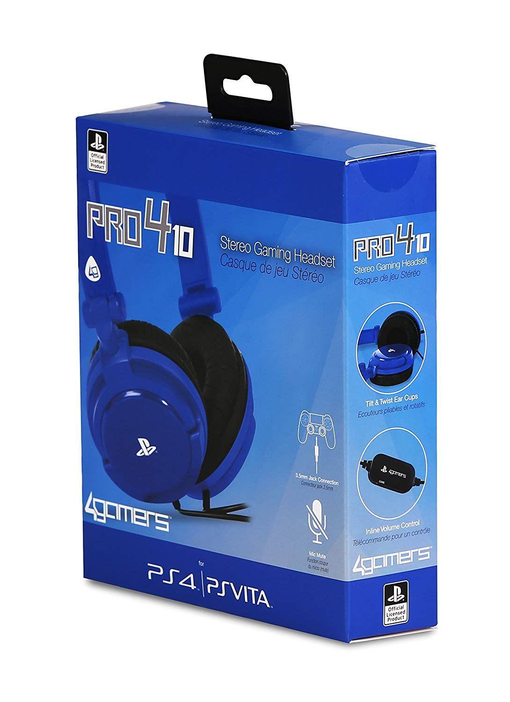 Casque Stéréo Filaire Pro 4-10 PS4 - PS Vita