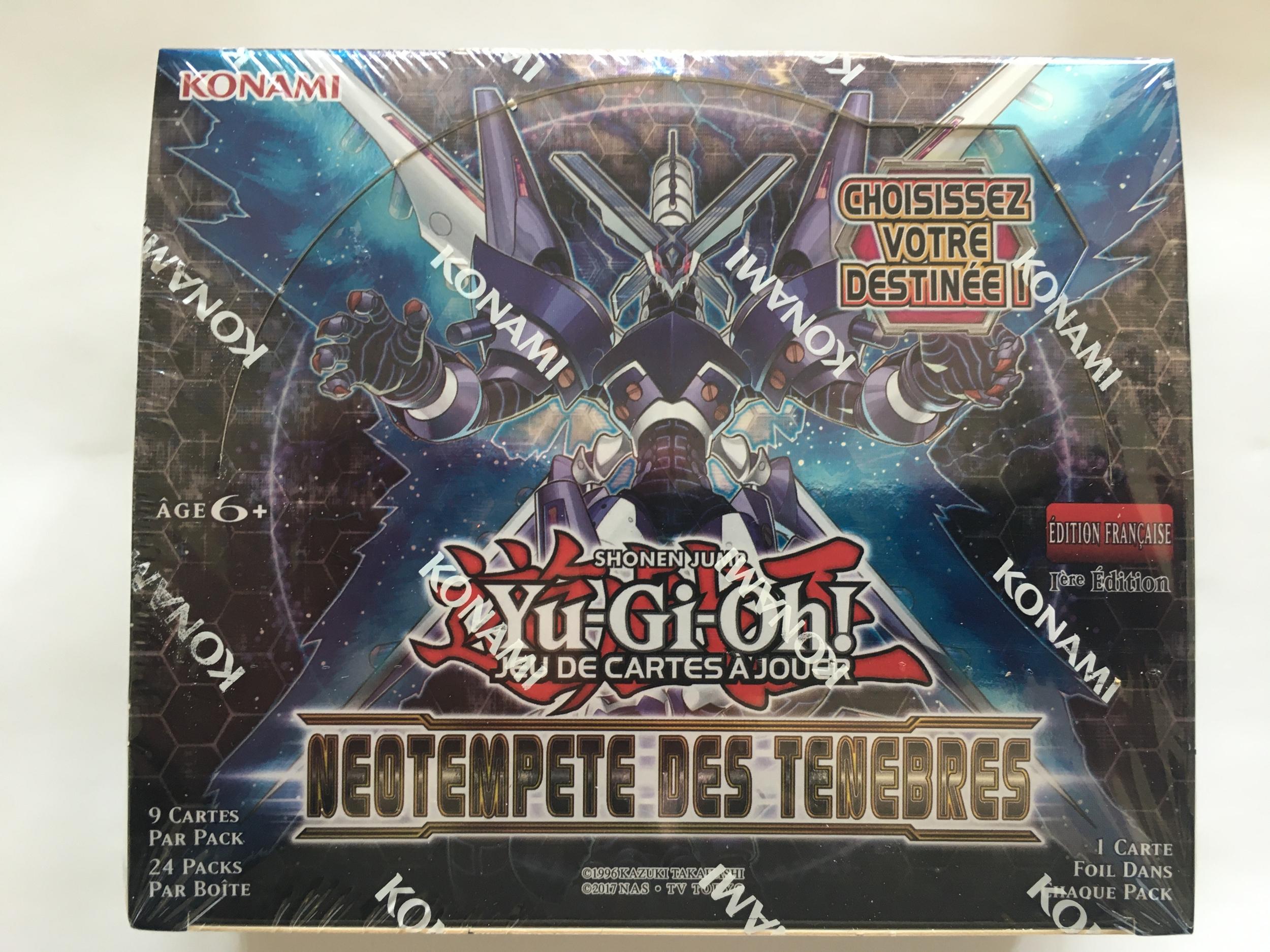 Néotempête des Ténèbres Display 24 Boosters Yu-Gi-Oh! en Version Française.