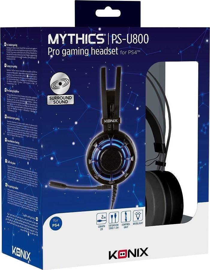Casque Micro Gaming 7.1 PS-U800 PS4