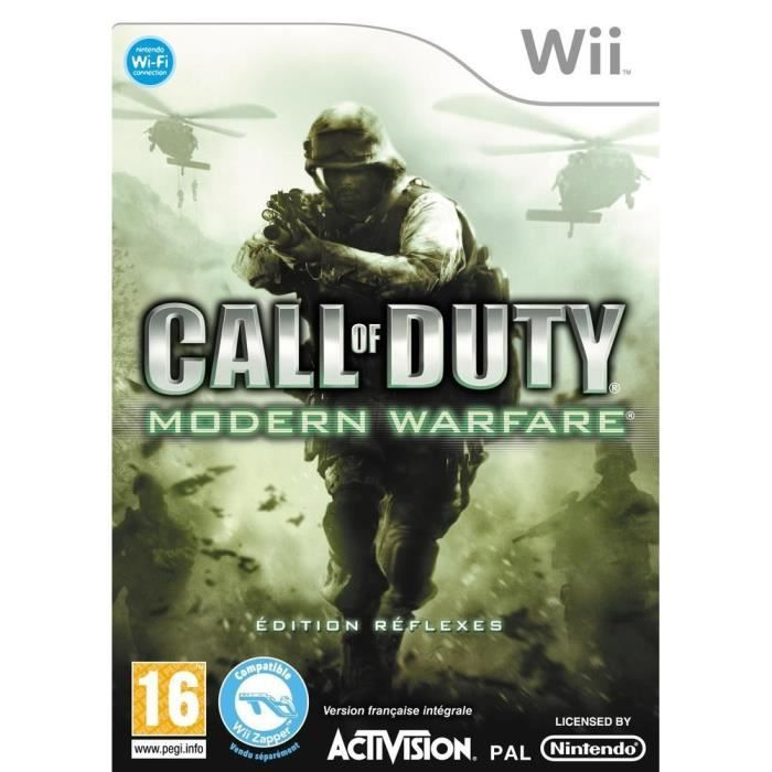 Call Of Duty Modern Warfare Edition Réflexe Wii occasion