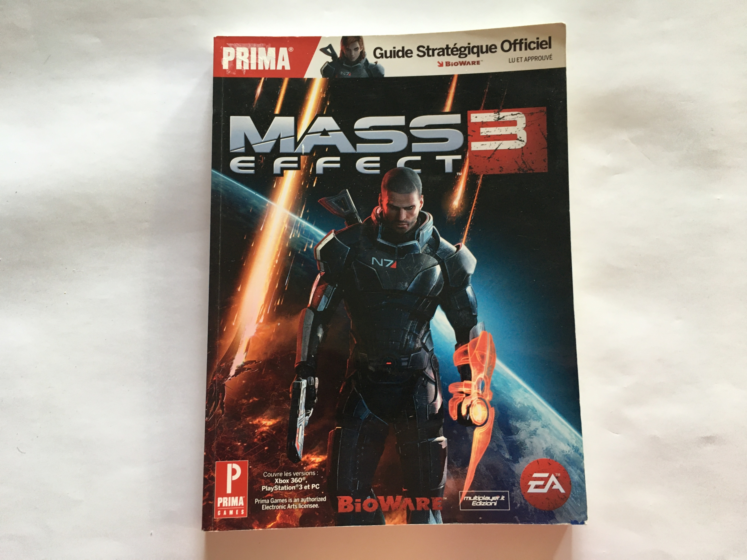Guide officiel Mass Effect 3 FR occasion