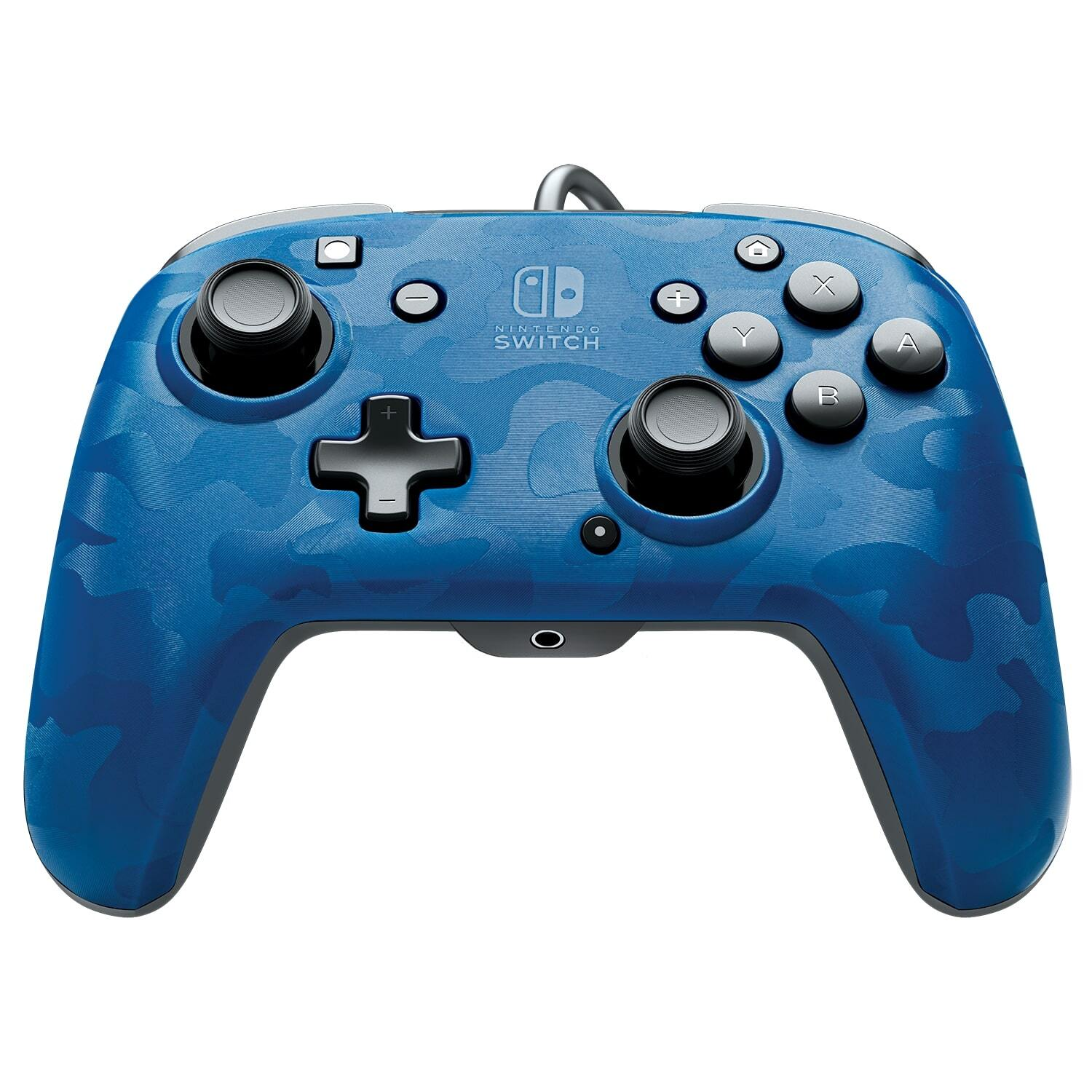 Manette Nintendo Switch filaire Pro - Camouflage Bleu