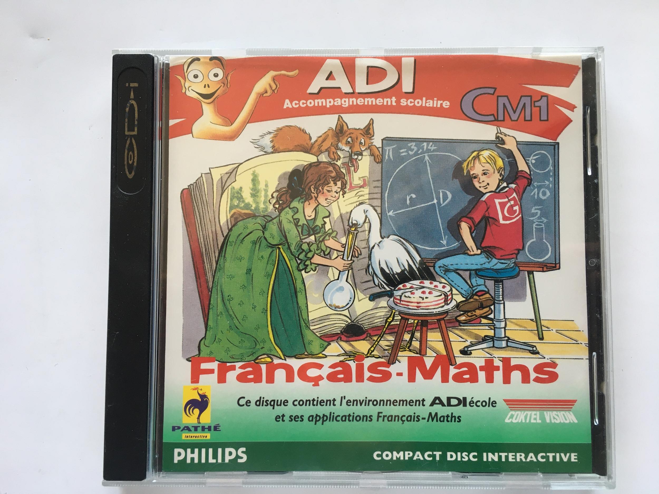 ADI Français Maths CM1 sur CD-i