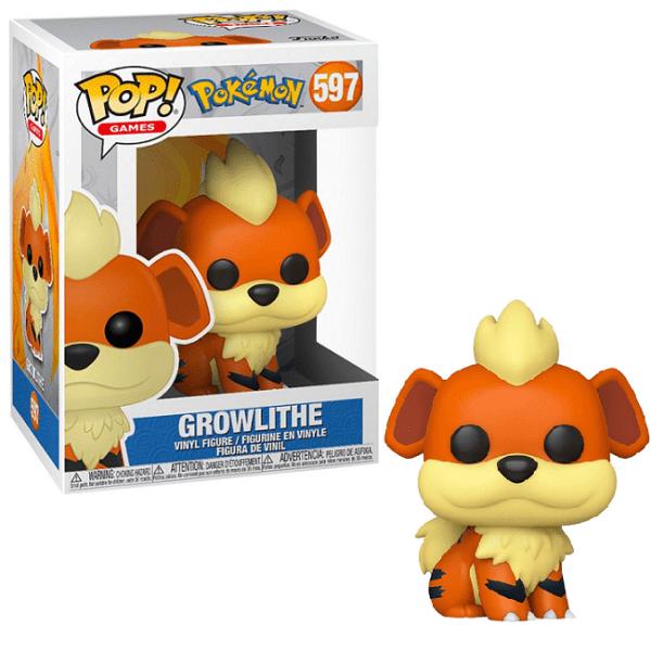Funko Pop Pokemon 597 Growlithe (Caninos) neuf.