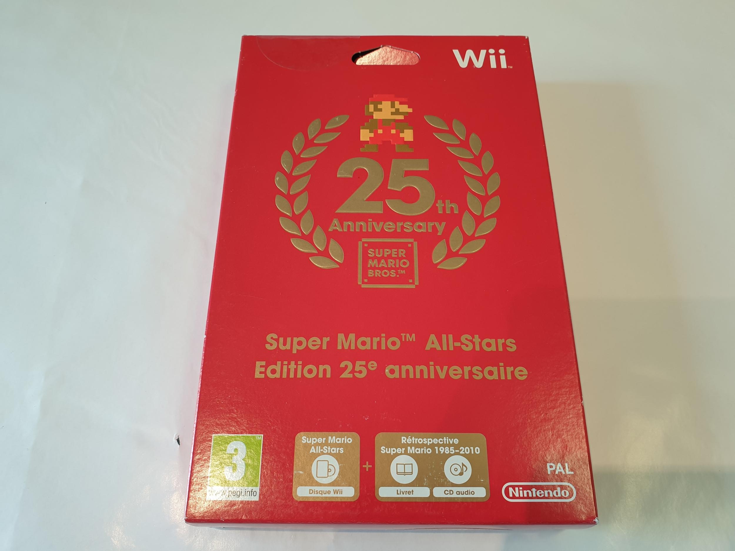Super Mario All-Stars - Edition 25e Anniversaire collector NEUF WII