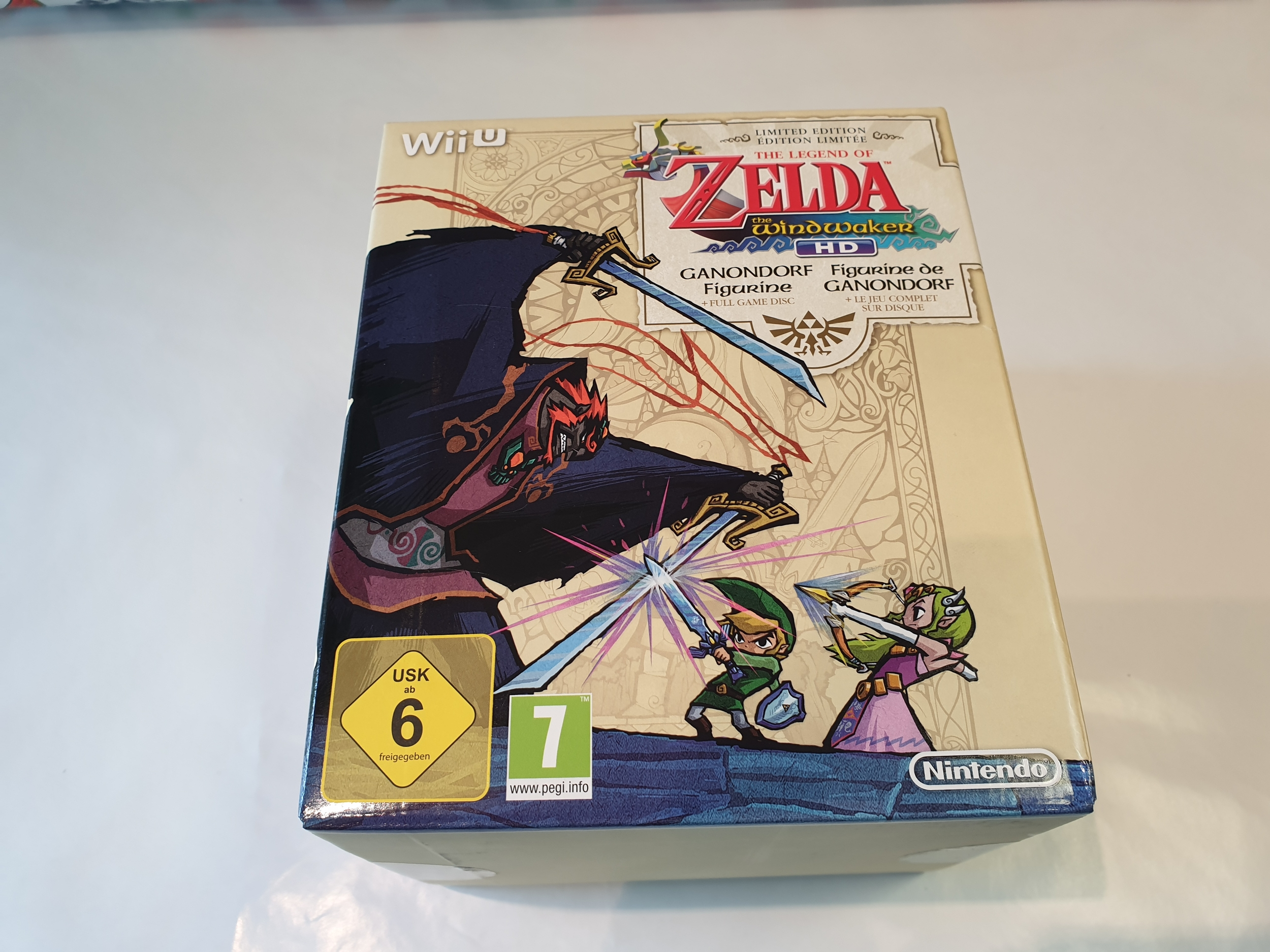 The Legend Of Zelda the windwaker HD WII-U collector NEUF