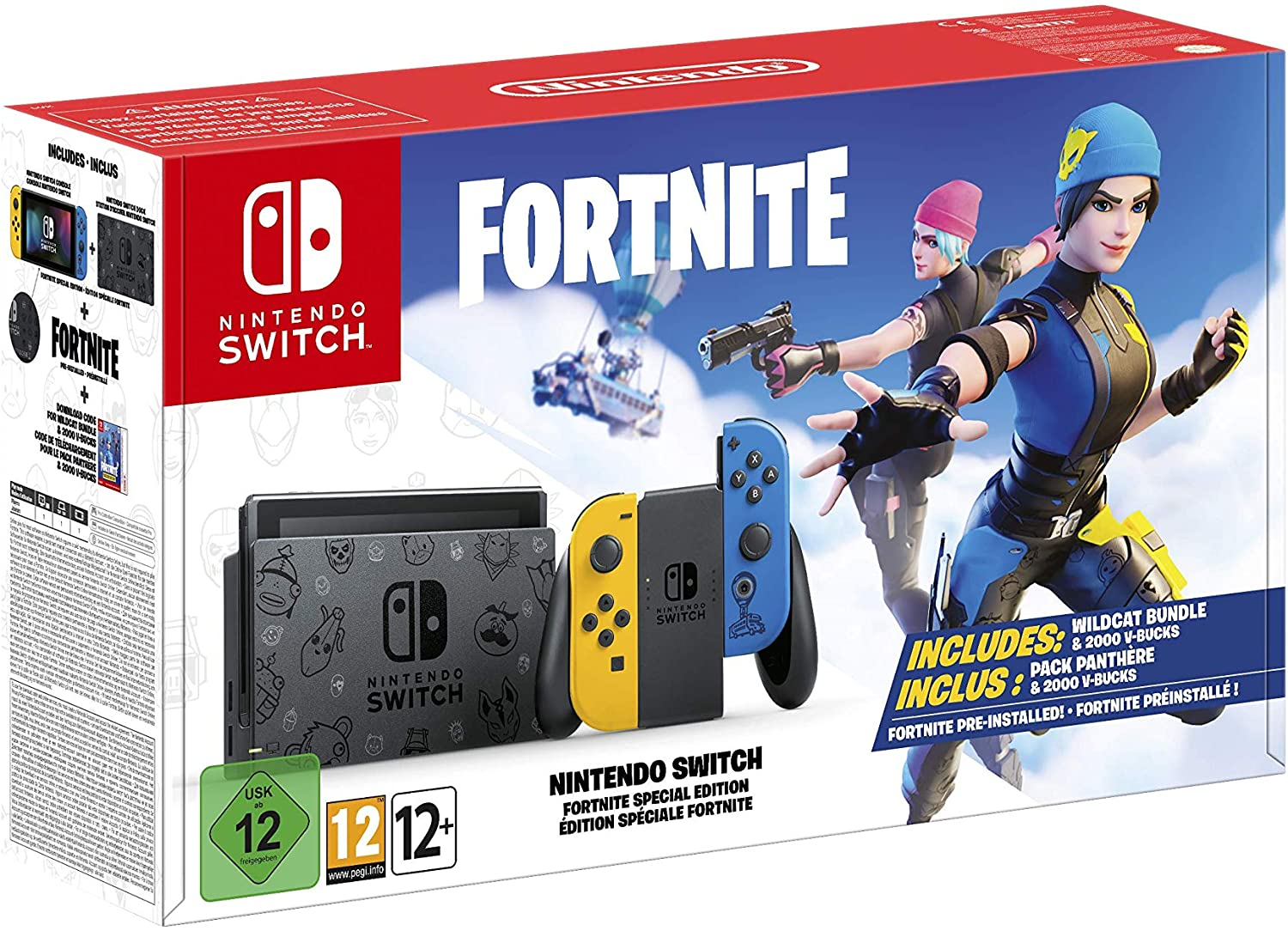 CONSOLE SWITCH JOYCON JAUNE/BLEU EDITION SPECIAL FORTNITE
