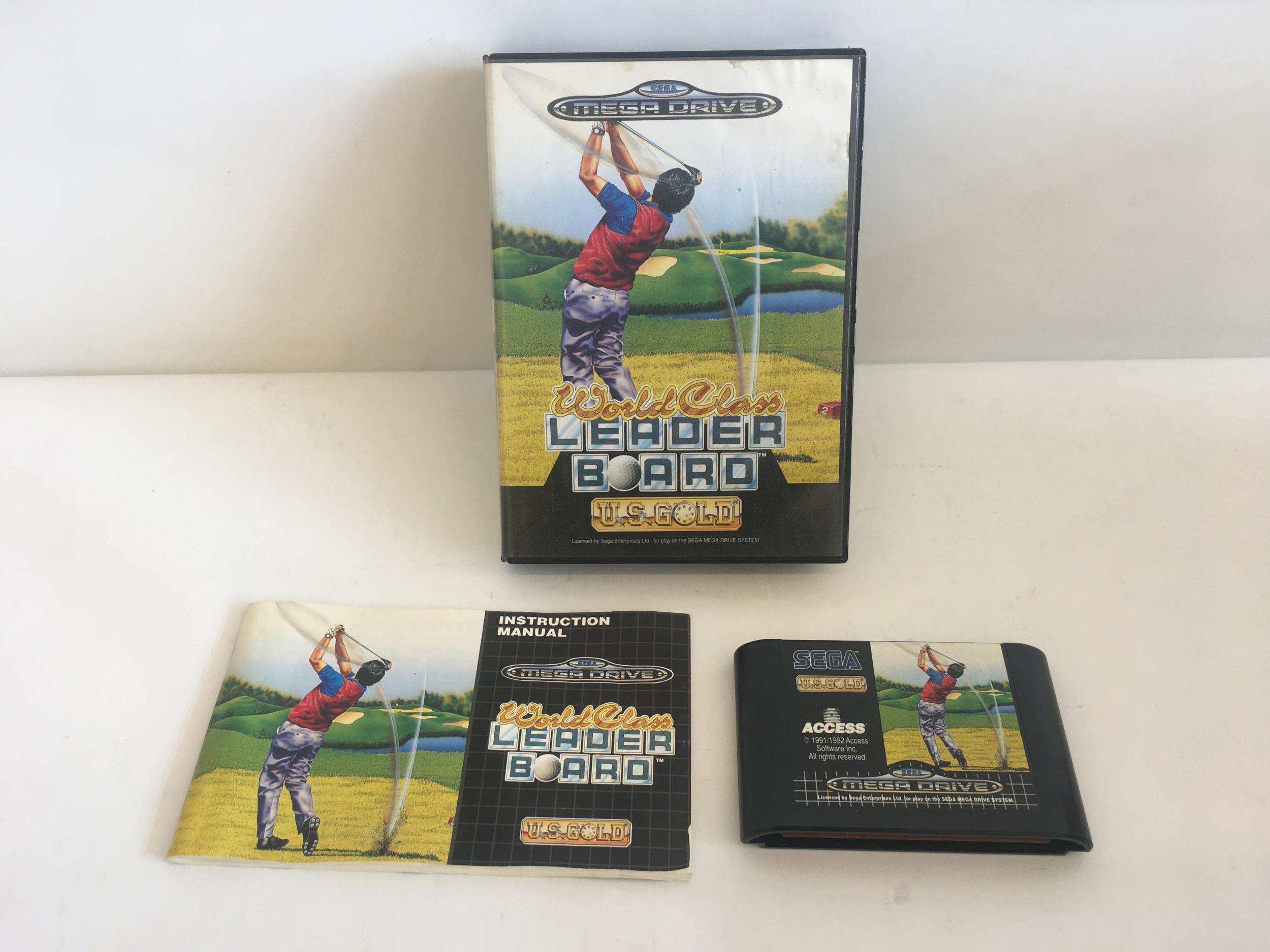 World Class Leader Board US Gold Mega Drive