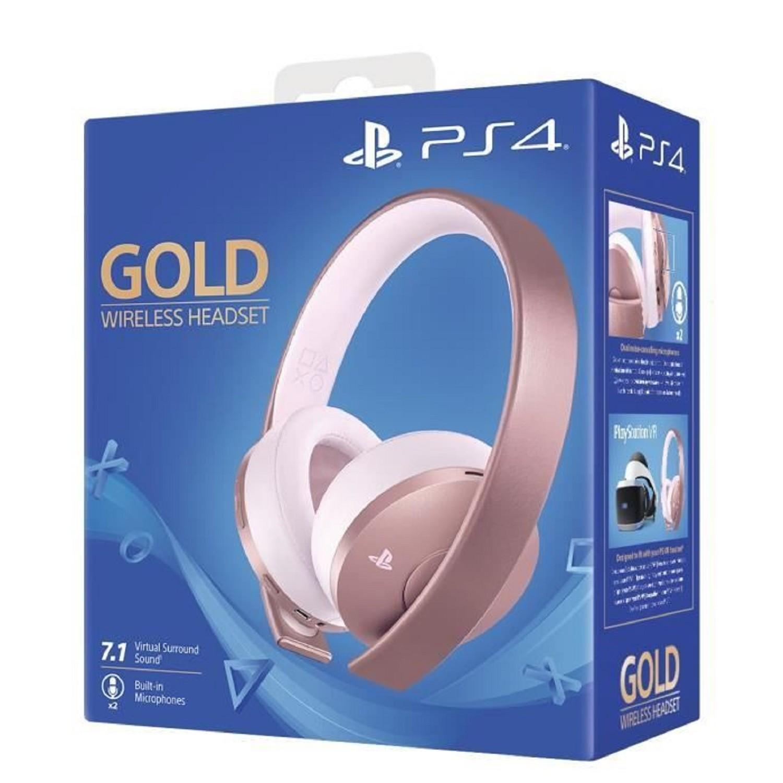 Casque PS4 sans fil Sony Gold Rose