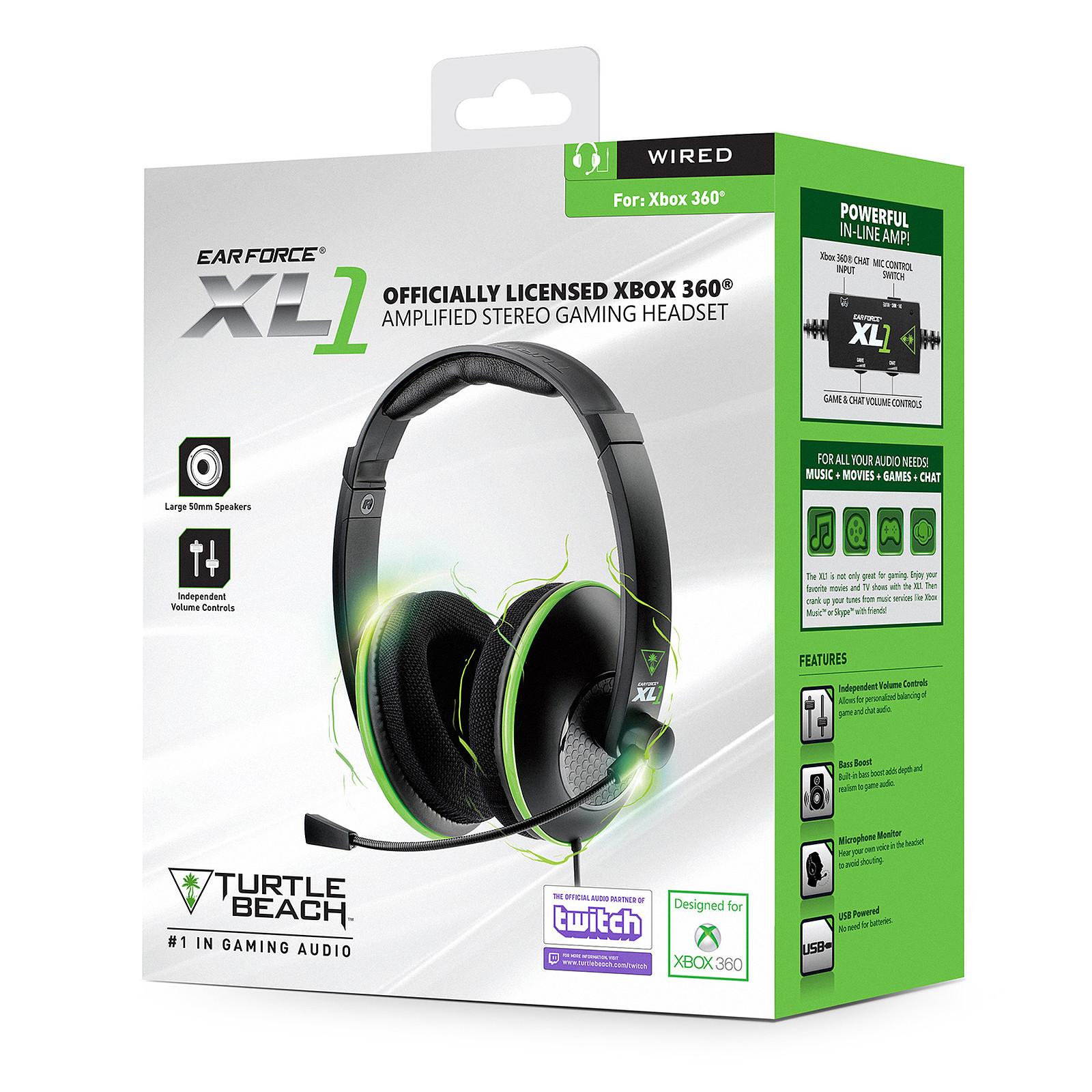 Casque Turtle Beach ear force XL1 - Xbox 360