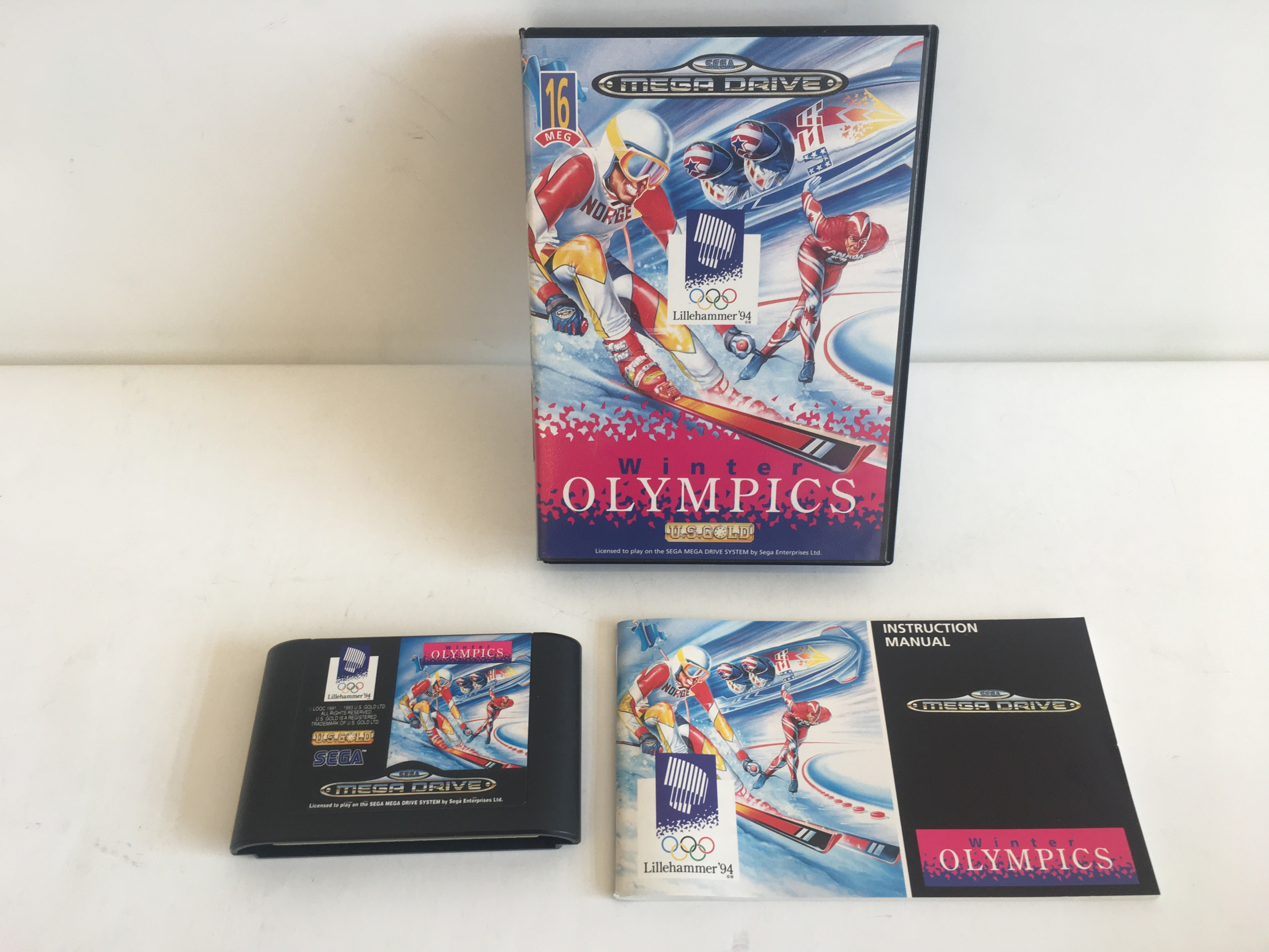 Winter Olympics US Gold Mega Drive