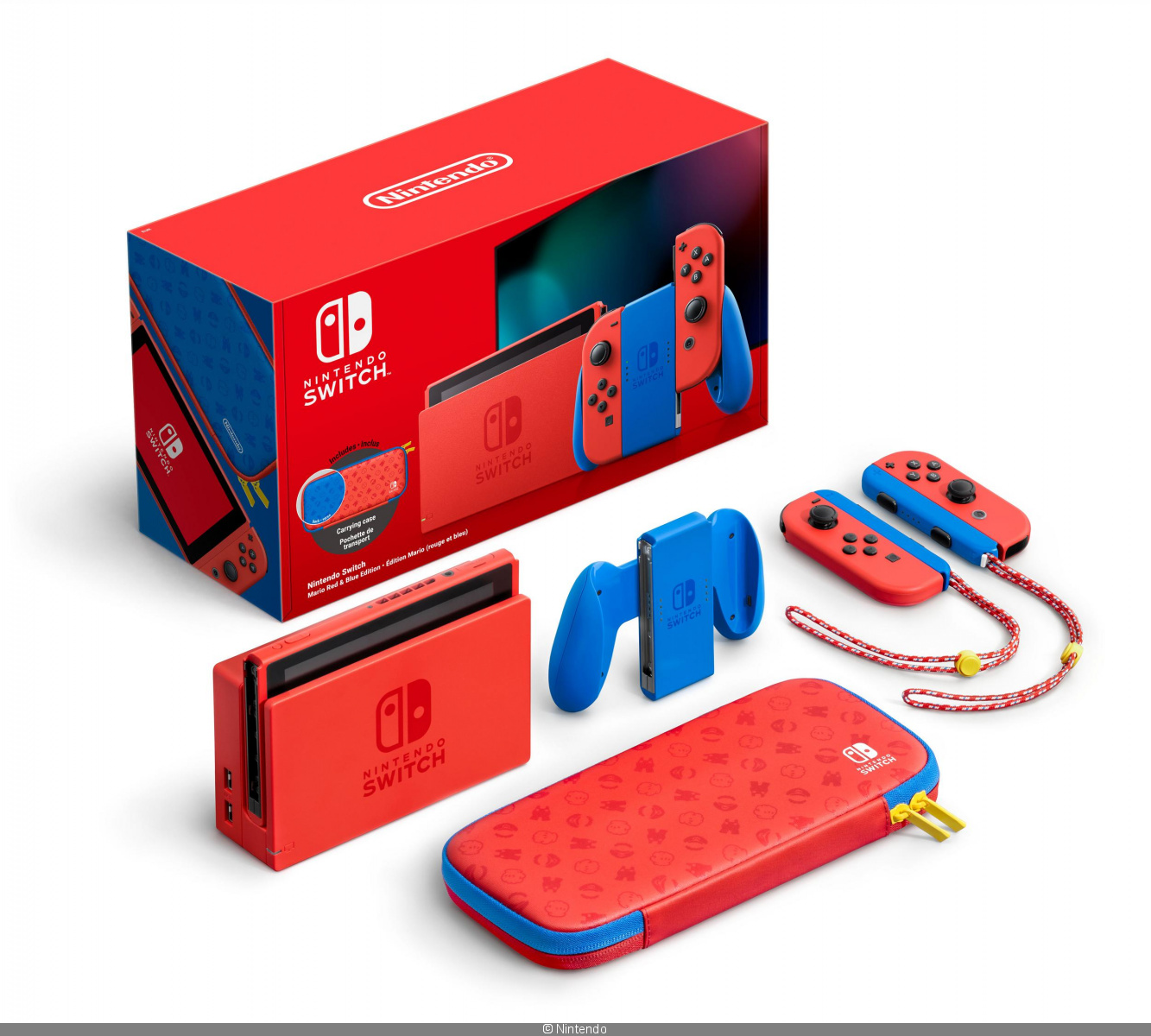 Console Switch Edition Mario 35 ans Red and Blue