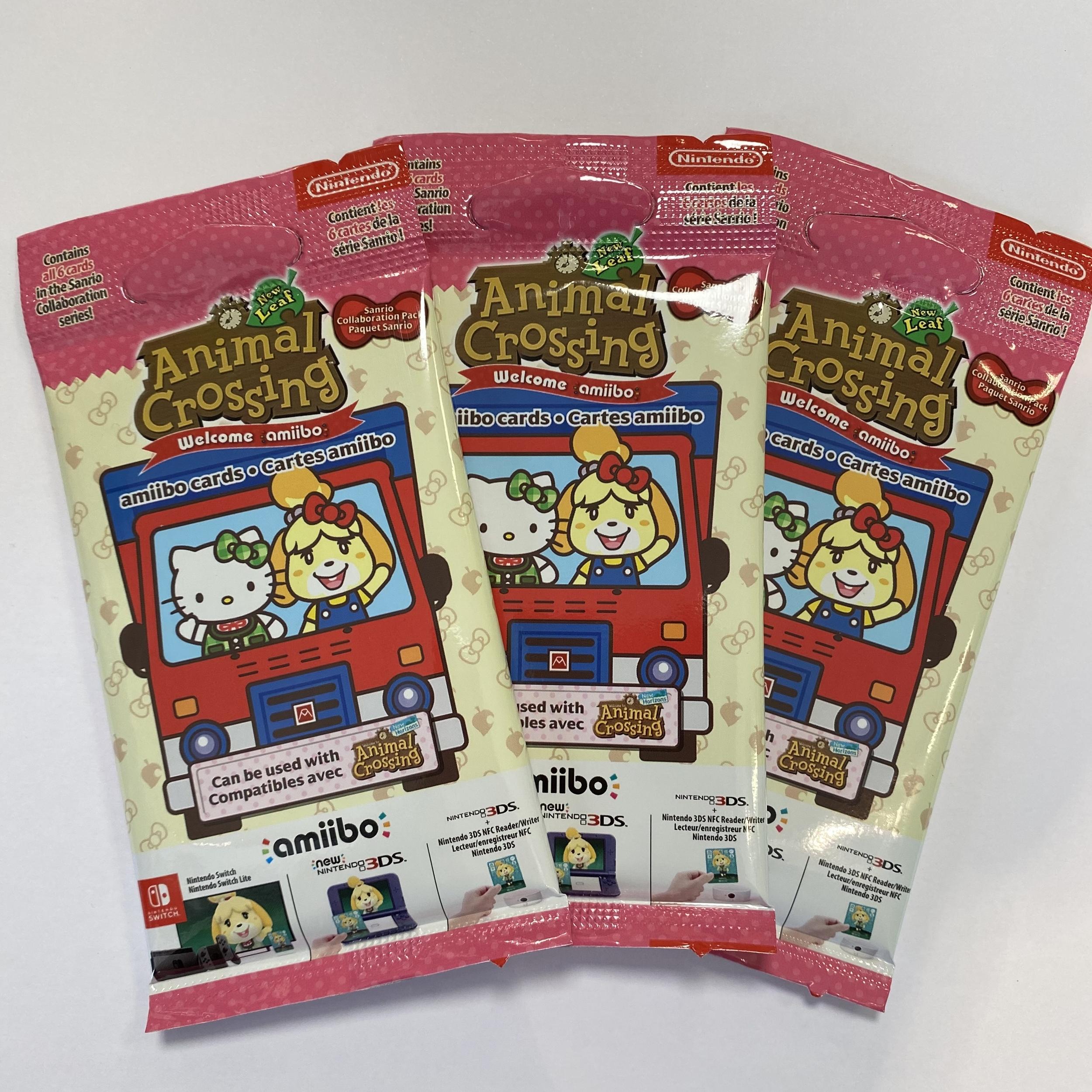 Lot de 3 paquets de 6 cartes Animal Crossing