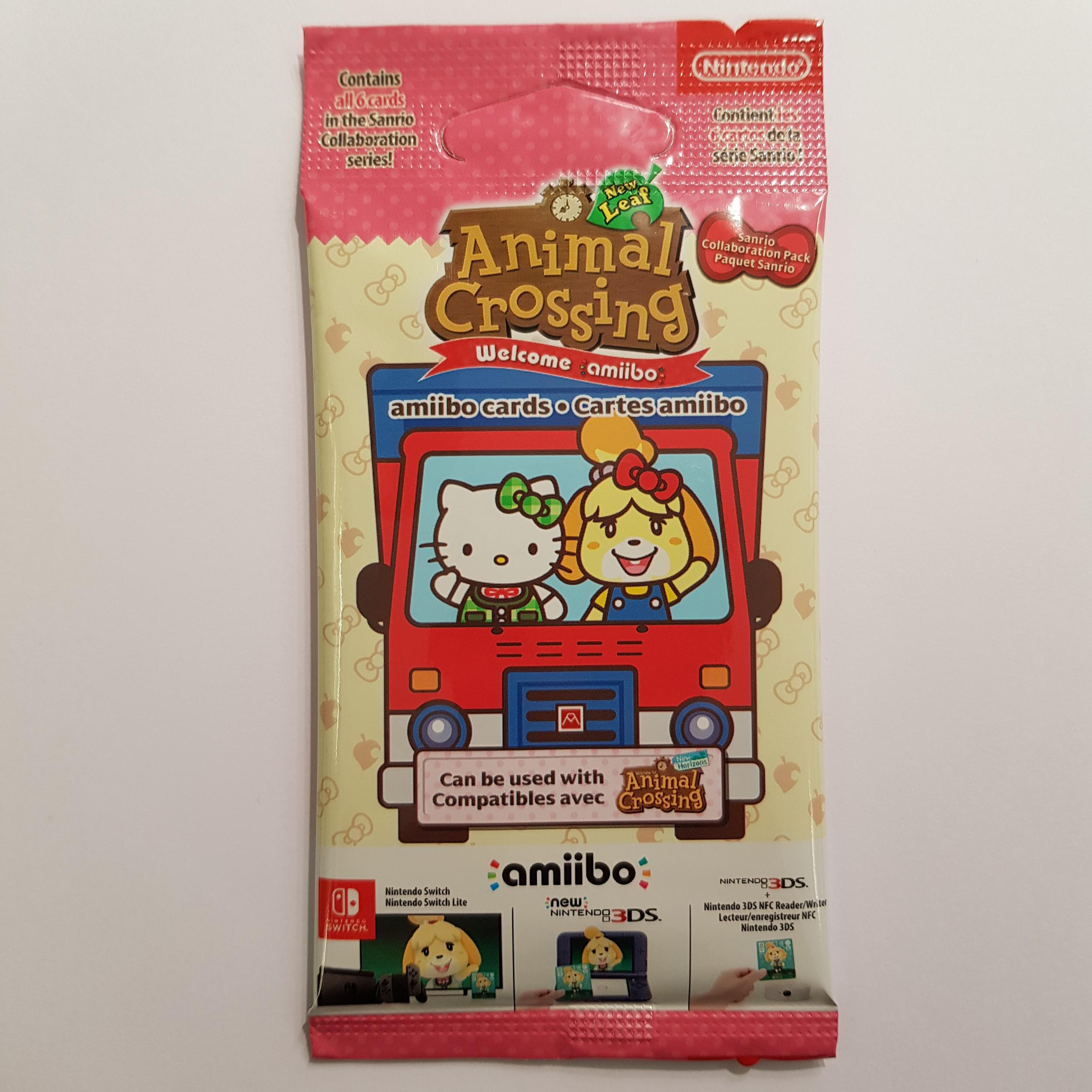 1 paquet de 6 cartes Animal Crossing