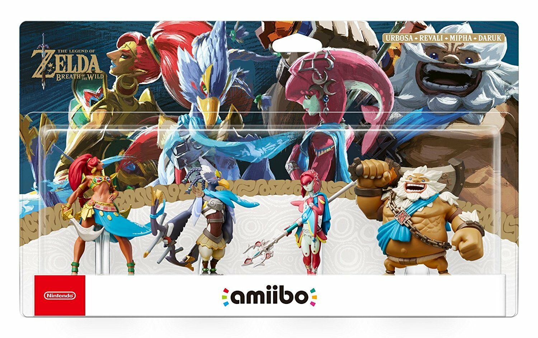 Pack Amiibo 4 figurines The Legend of Zelda : Breath of the Wild - Urbosa + Daruk + Mipha + Revali