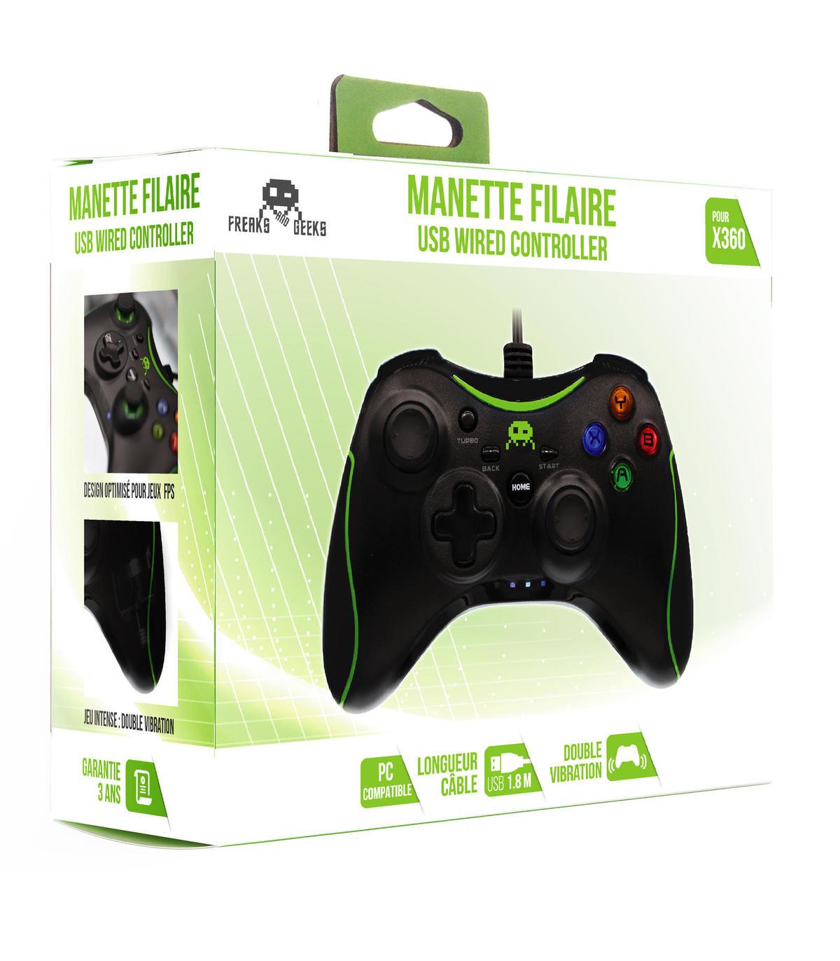 Manette Filaire Noire pour Xbox 360 / PC