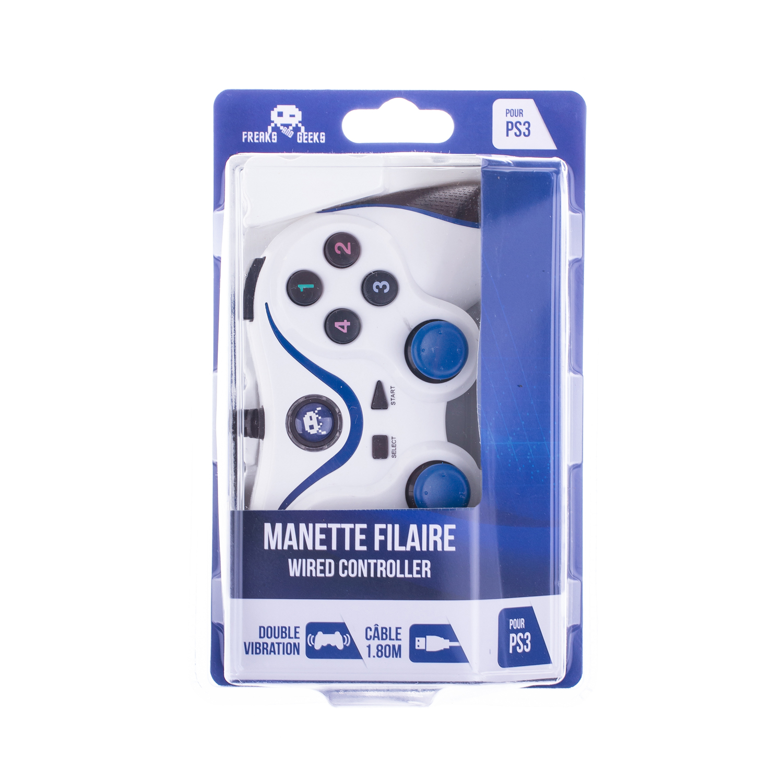 Manette Filaire Blanche pour PS3