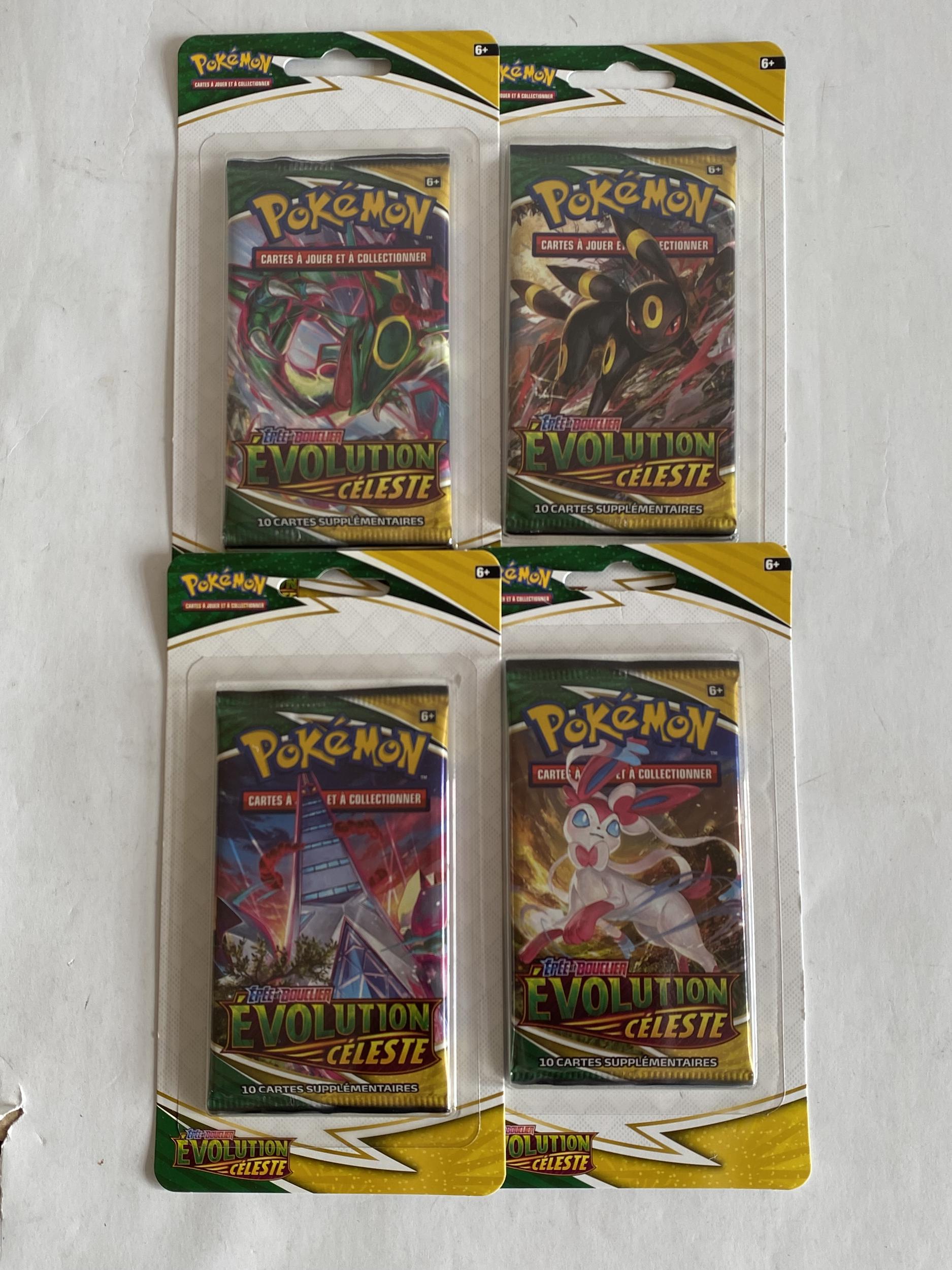 Carte Pokémon - lot de 4 Boosters - EB07 - Évolution Céleste