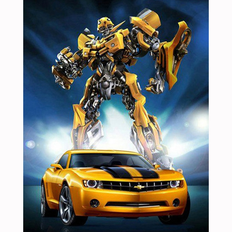 5D broderie diamant Bumblebee Transformers plein rond/carré