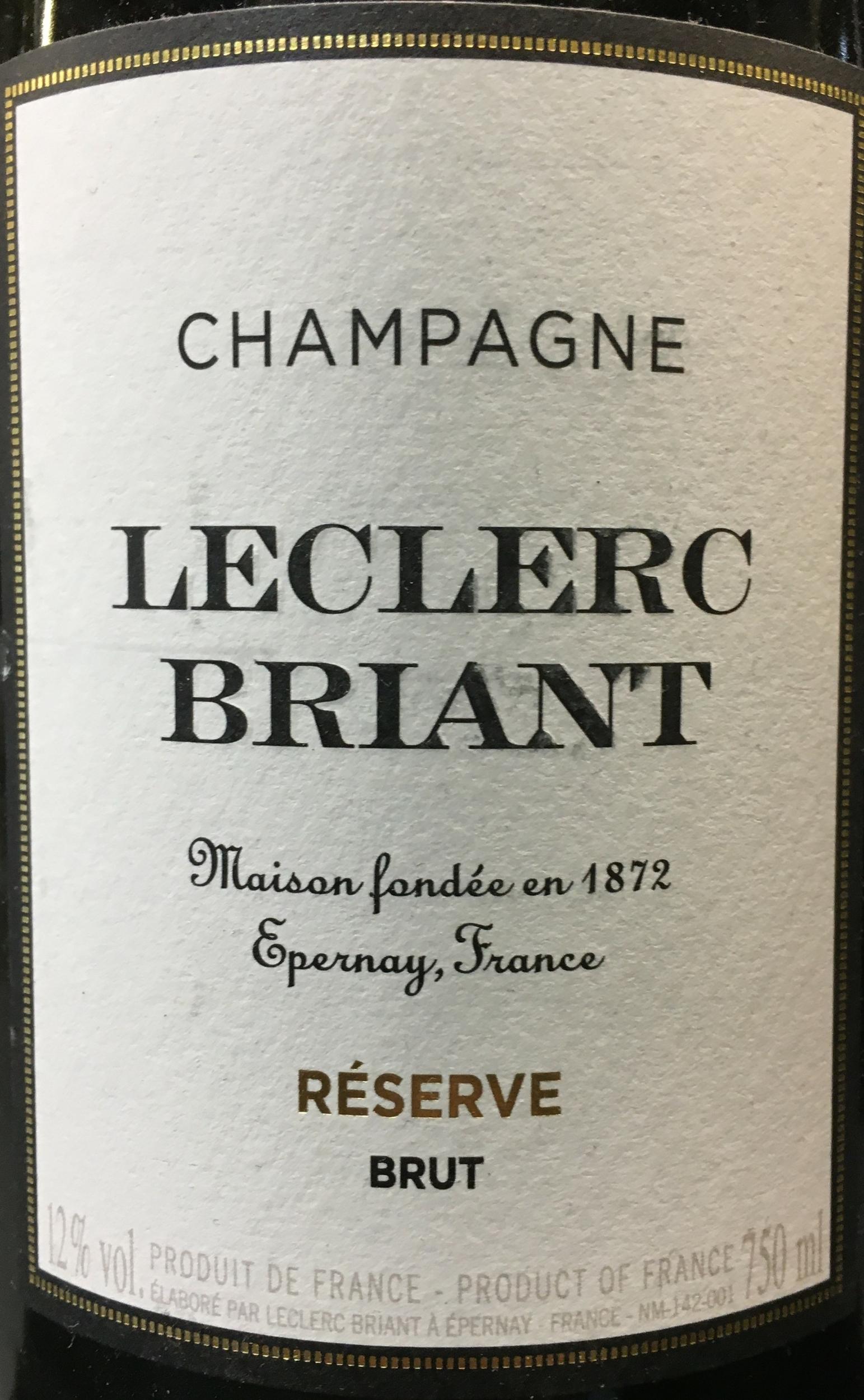 Champagne Leclerc Briant Réserve