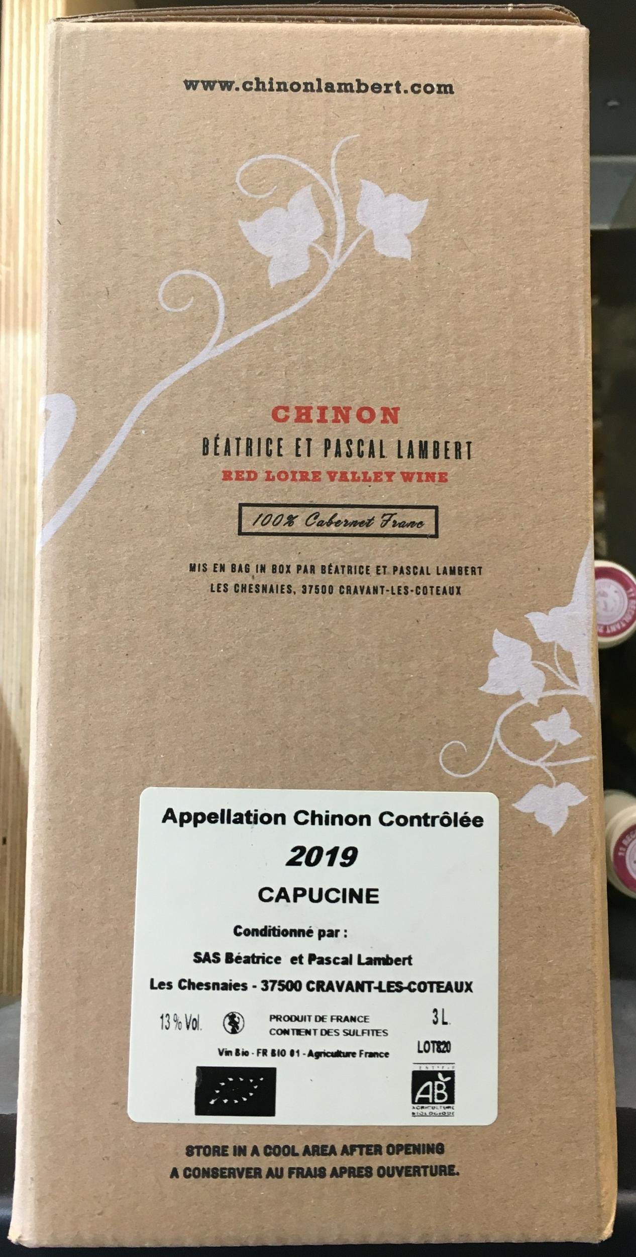 BIB Capucine Chinon Rouge 3L