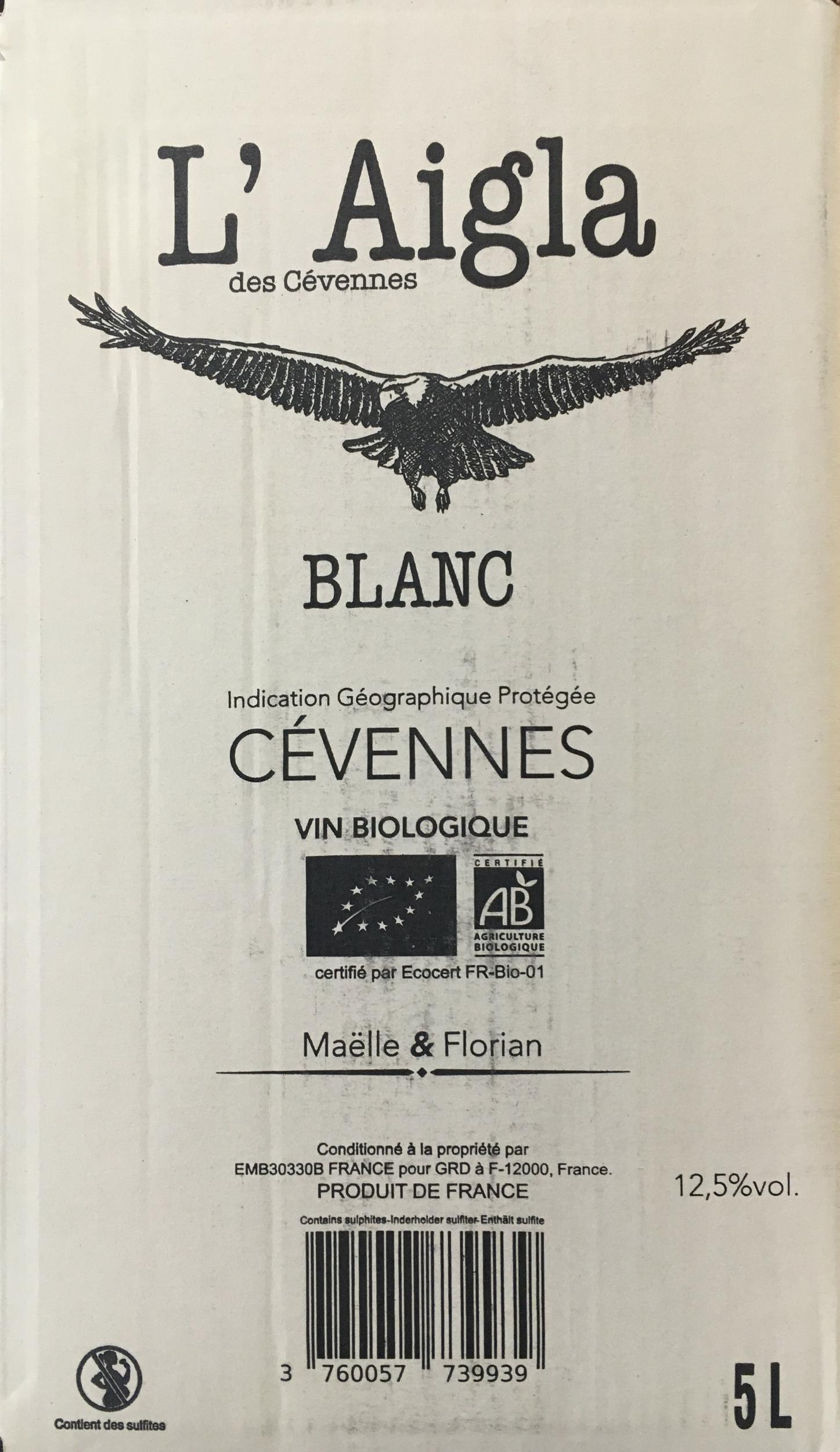 BIB L\'Aigla Blanc 5L