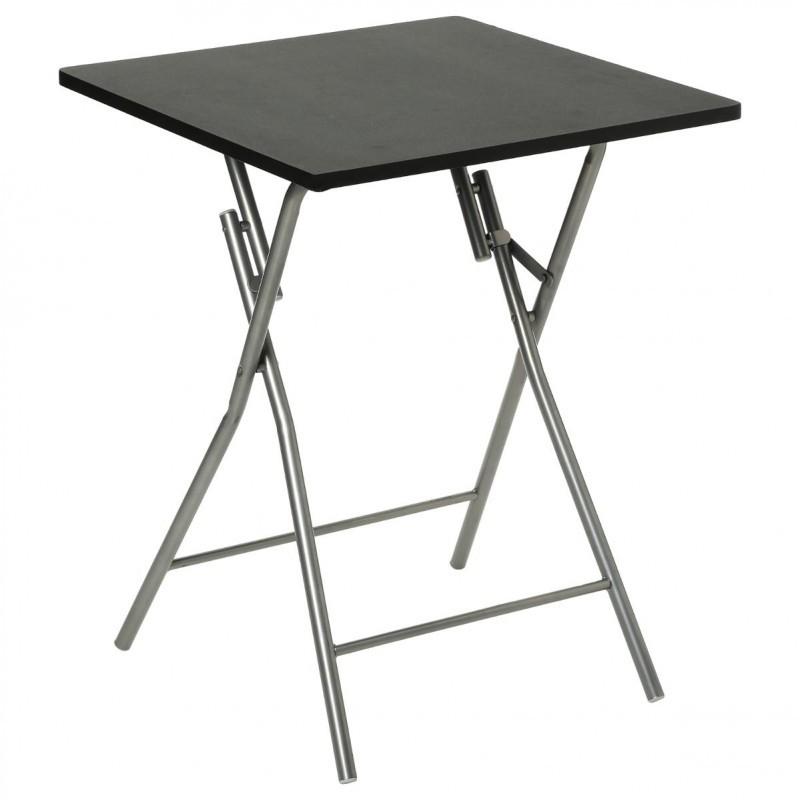 TABLE PLIANTE 60X60CM NOIR
