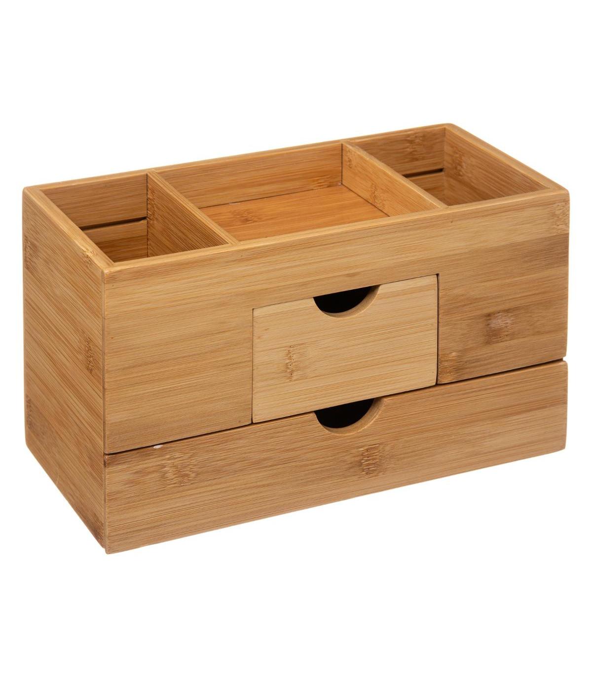 id/éal comme coiffeuse ou tiroir pour bureau salle de bain et cuisine. Organiseur de 6 tiroirs 100 /% bambou naturel syst/ème de rangement parfait pour chaque tiroir