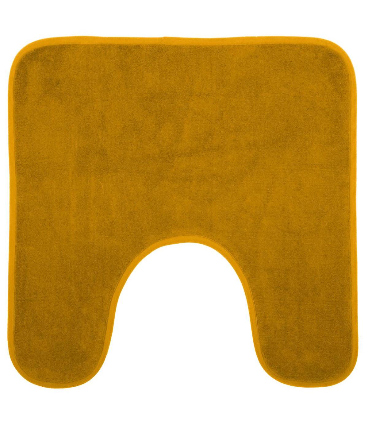 tapis-contour-wc-memoire-de-forme-jaune-48x48