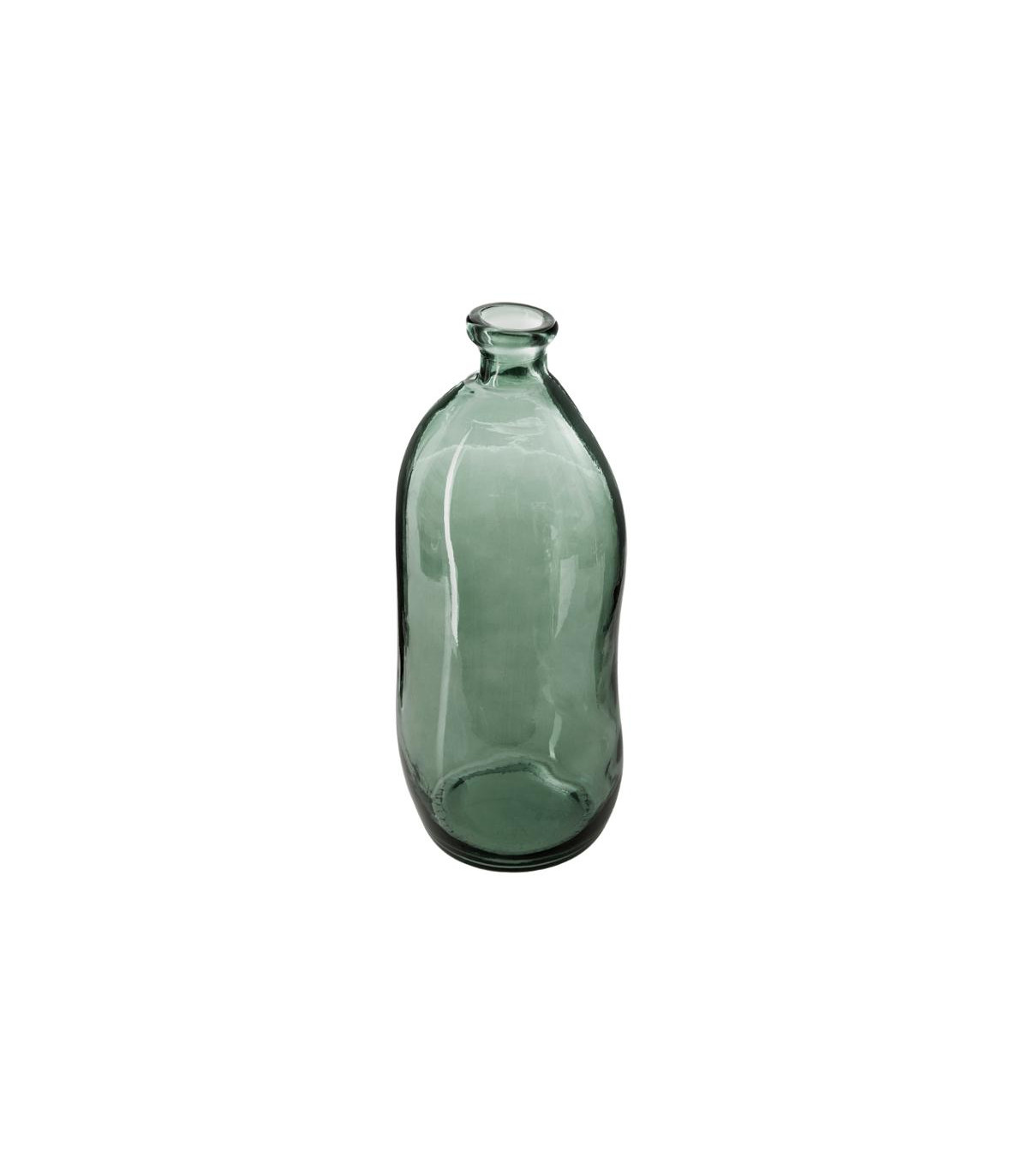 vase-bouteille-en-verre-recycle-vert-kaki-h-35-cm