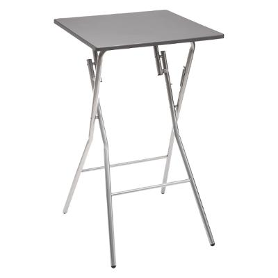 TABLE BAR PLIANTE 60X60CM GRIS