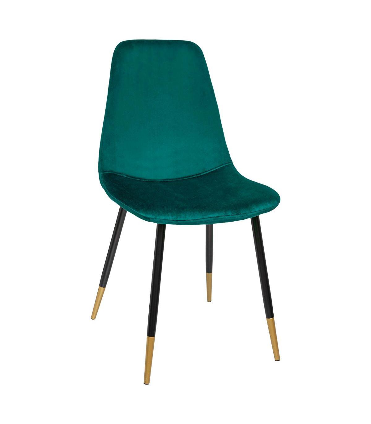 chaise-tyka-en-velours-vert-et-pieds-en-metal-noir-finition-doree-h-86-cm
