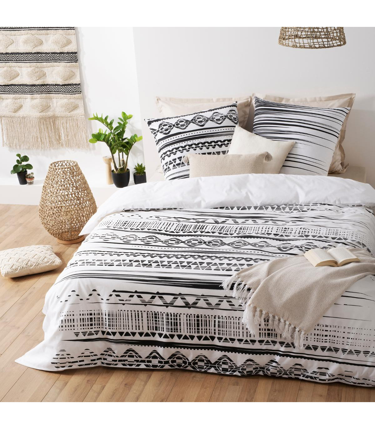 parure-de-lit-2-personnes-260-x-240-cm-housse-de-couette-avec-2-taies-imprime-ethnik-noir-blanc