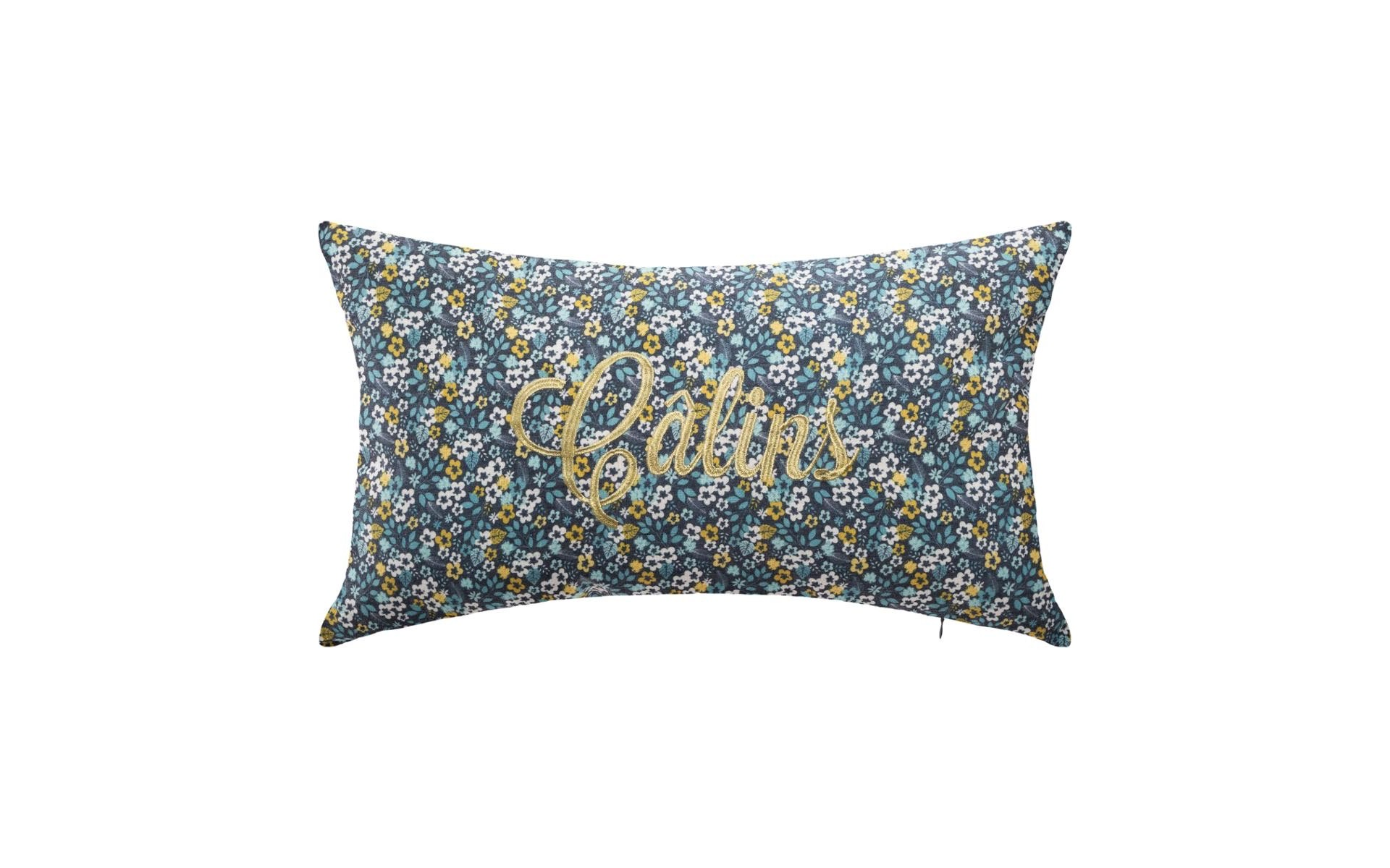 Coussin avec broderie LUREX COSY\'NESS 38X58