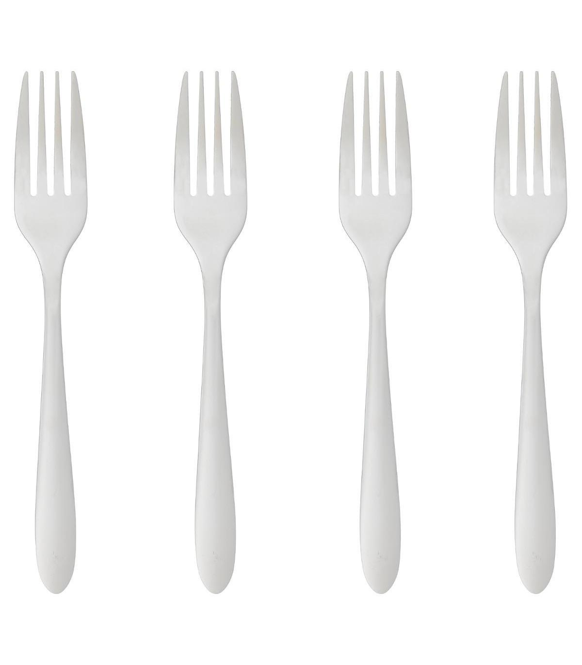 Lot de 4 fourchettes en inox NEVIS