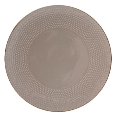 Assiette plate PERLE TAUPE 27CM