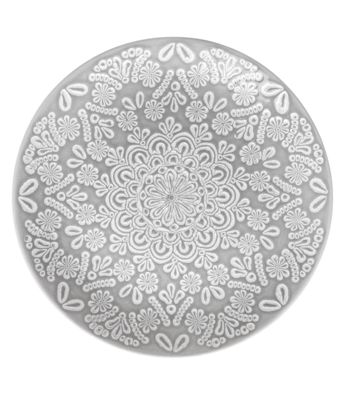 Assiette plate HACIENDA GRIS 27CM