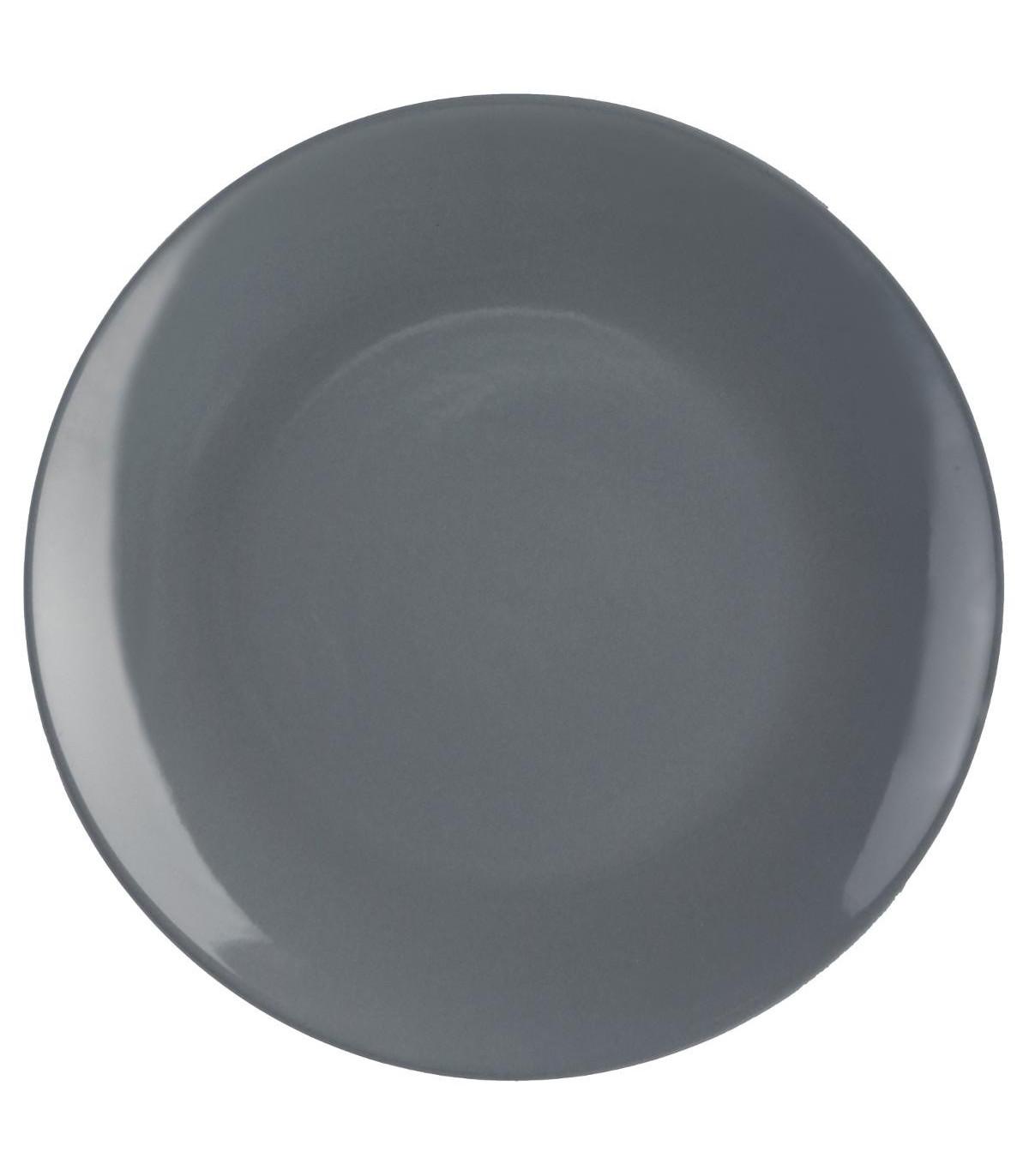 Assiette plate COLORAMA GRIS 26CM