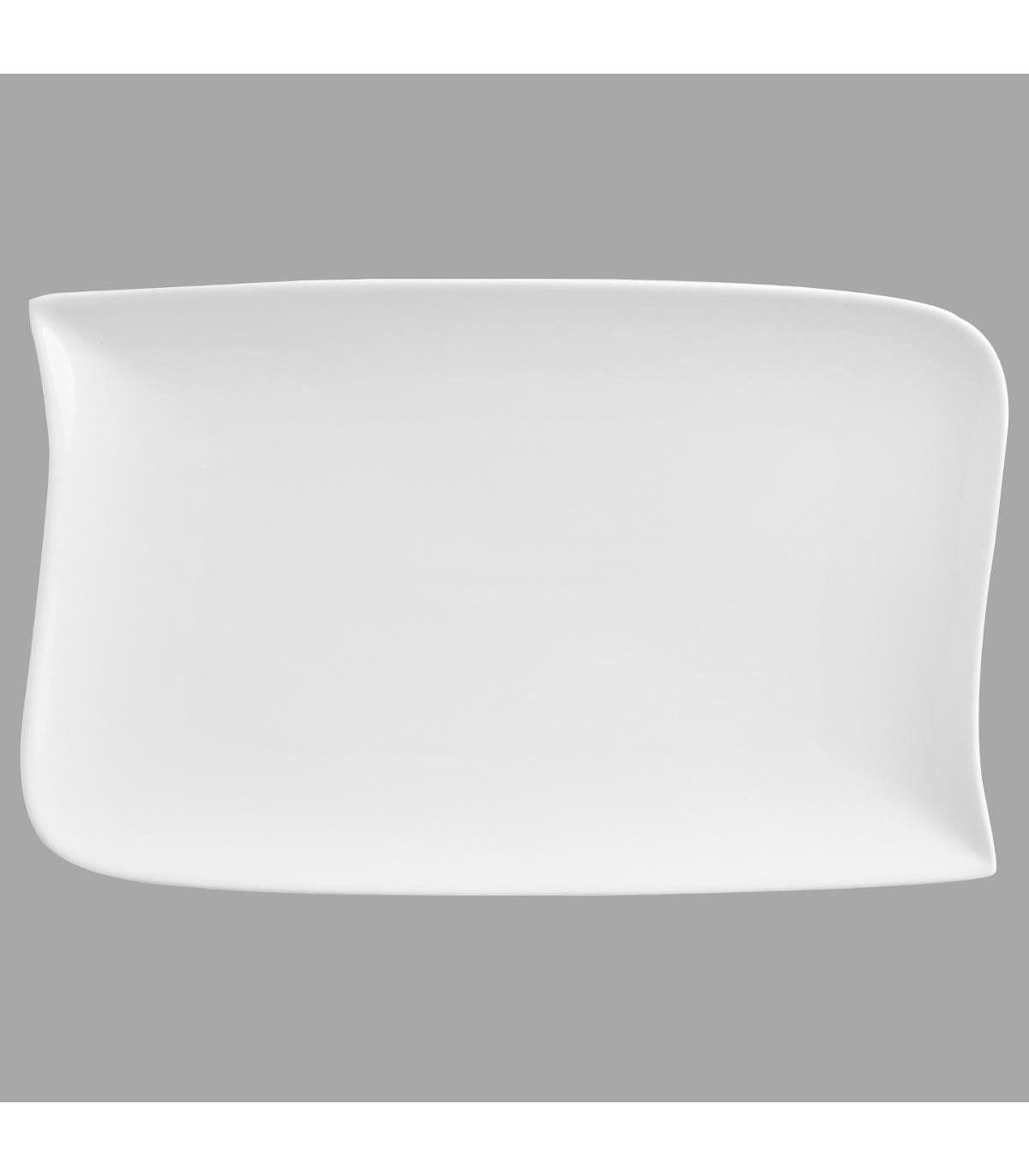 Assiette plate RECTANGLE VAGUE 28X18CM