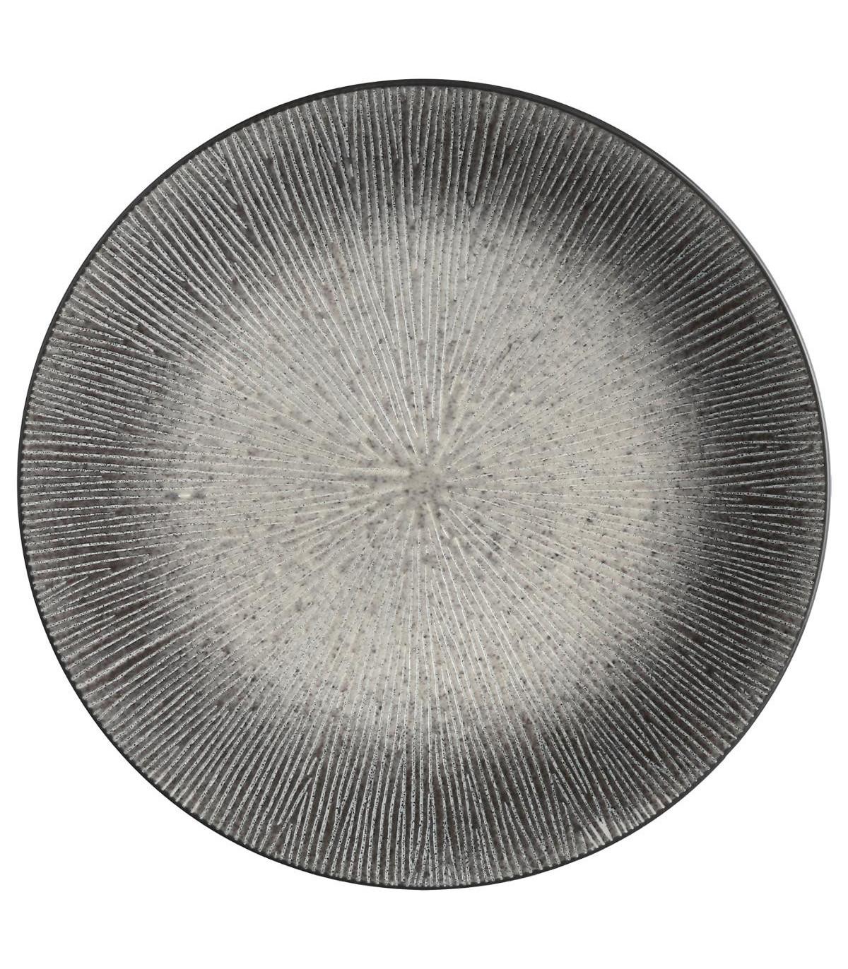 Assiette plate ATELIER GRIS 27CM