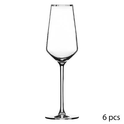 Flûte à champagne en Cristallin X6 MILLA ARGENT 21CL