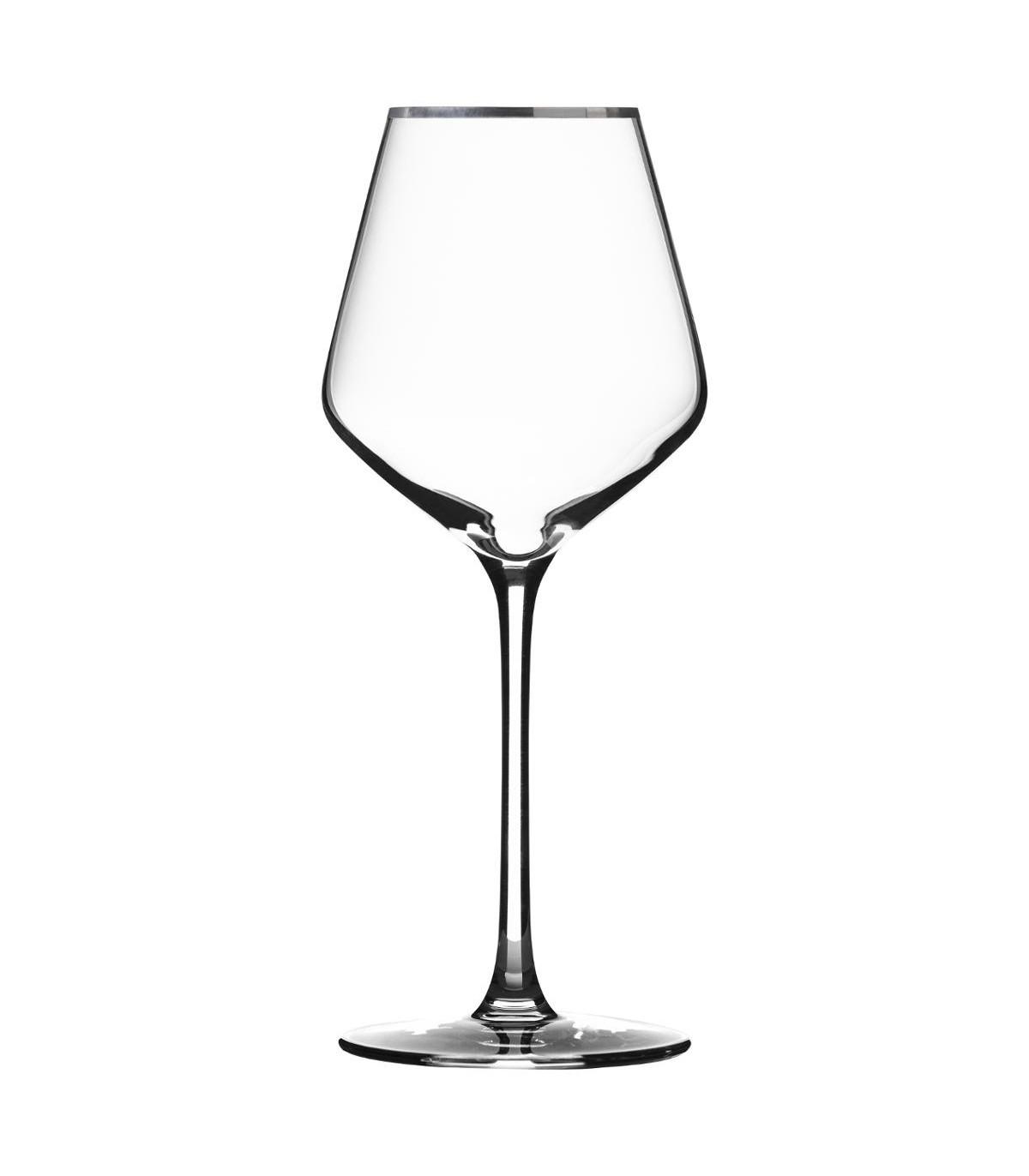 Verre à vin en Cristallin X6 MILLA ARGENT 38C